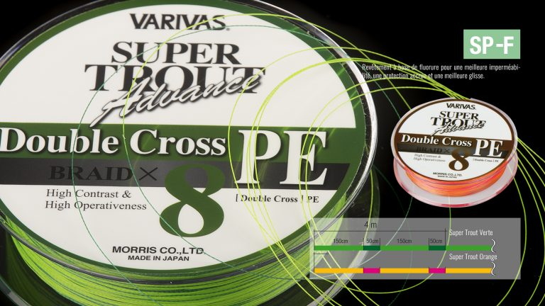 Varivas Super Trout Advance Double Cross Braid x8 PE tech