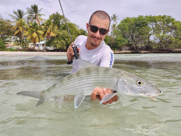 bonefish avec la benkei multribrins spinning ML